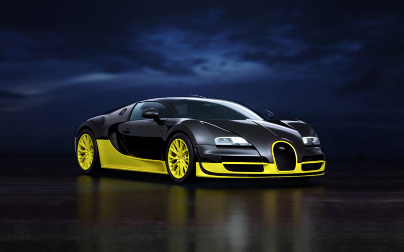 Bugatti-Veyron-Super-Sport-preto com amarelo