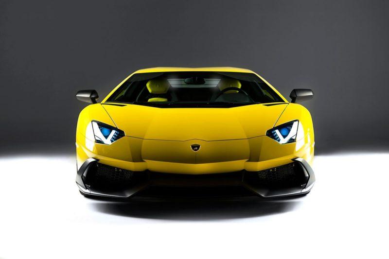 Aventador frente amarelo